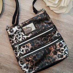 NWOT Betseyville Crossbody Leopard Sequins Bag